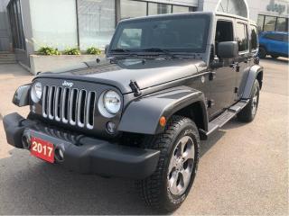 Used 2017 Jeep Wrangler JK Sahara 4x4 V6 w/Navi, Remote Start, Bluetooth, Hea for sale in Hamilton, ON