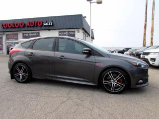 Used 2016 Ford Focus ST Hatch 6 Speed Manual Navigation Camera Certified for sale in Milton, ON