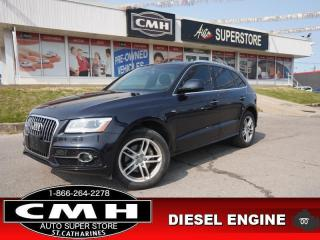 Used 2016 Audi Q5 3.0 quattro TDI Technik  NAV CAM PANO HTD-SEATS for sale in St. Catharines, ON