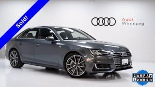 Used 2017 Audi A4 Technik w/S-Line & Advanced Driver Assist *Local Trade* for sale in Winnipeg, MB