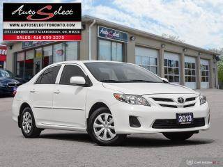 Used 2013 Toyota Corolla ONLY 87K! **5 SPEED**SUNROOF**CLEAN CARPROOF** for sale in Scarborough, ON