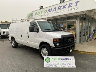 Used 2010 Ford Econoline E-250 LADDER RACK & SHELVING! FREE BCAA & WRNTY! IN HOUSE FINANCE IT! for sale in Langley, BC
