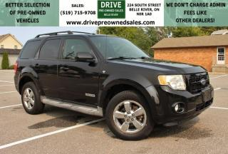 Used 2008 Ford Escape Limited 4x4 Heated Leather Sun Roof Cruise Control for sale in Belle River, ON