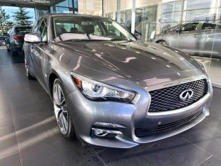 Used 2017 Infiniti Q50 3.0t AWD, ACCIDENT FREE, LOW KMS, SUNROOF, HEATED STEERING WHEEL, POWER HEATED LEATHER SEATS for sale in Edmonton, AB