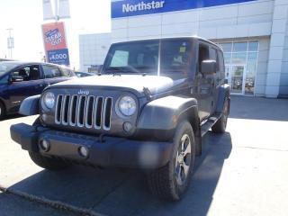 Used 2017 Jeep Wrangler Unlimited UNLIMITED SAHARA/NAV/POWEROPTIONS/HEATEDSEATS/AUTO for sale in Edmonton, AB