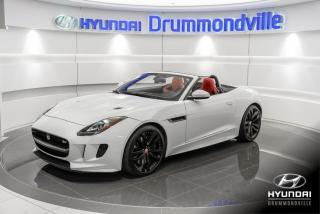 Used 2016 Jaguar F-Type S + GARANTIE + NAVI + CUIR ROUGE + WOW for sale in Drummondville, QC