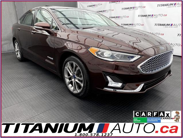 2019 Ford Fusion Hybrid Titanium+GPS+Cooled Leather+Blind Spot+Lane Assist