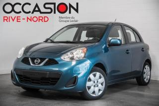 Used 2015 Nissan Micra SV BLUETOOTH+A/C+GR.ELECTIQUE for sale in Boisbriand, QC