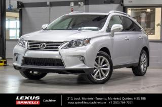 Used 2015 Lexus RX 350 TOURING AWD; CUIR TOIT GPS CAMERA ANGLES MORT BAS KILOMÉTRAGE - NAVIGATION - MONITEUR ANGLES MORT - VOLANT CHAUFFANT - CAMÉRA DE RECUL - BLUETOOTH for sale in Lachine, QC