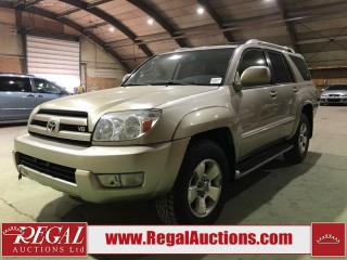 Used 2003 Toyota 4Runner Limited 4D Utility 4WD for sale in Calgary, AB