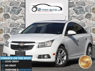 Used 2012 Chevrolet Cruze LTZ Turbo w-1SA | NAV | SUNROOF | PUSH BUTTON | for sale in Etobicoke, ON