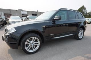 Used 2010 BMW X3 3.0i AWD CERTIFIED 2YR WARRANTY PANO SUNROOF BLUETOOTH HEATED LEATHER SEATS & STEERING for sale in Milton, ON