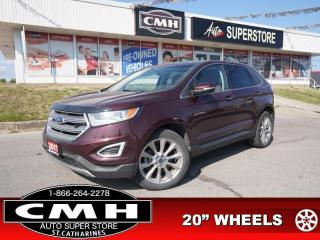 Used 2017 Ford Edge Titanium  NAV CAM ROOF CLD/HTD-SEATS P/GATE 20-AL for sale in St. Catharines, ON
