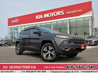 Used 2017 Jeep Cherokee TRAILHAWK | LTHR| CLEAN CARFX | NAV | BU CAM | 51K for sale in Georgetown, ON