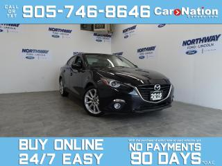 Used 2016 Mazda MAZDA3 GT | LEATHER | SUNROOF | NAV | BOSE | ONLY 64KM! for sale in Brantford, ON