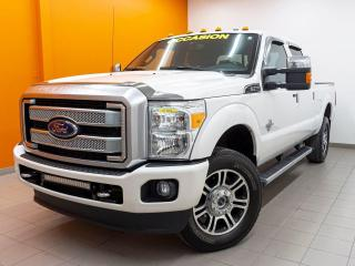 Used 2016 Ford F-350 PLATINUM CREW 4X4 TOIT GR. REMORQUAGE NAV *CUIR* for sale in St-Jérôme, QC