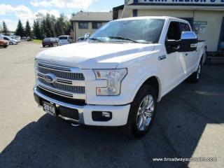 Used 2016 Ford F-150 LOADED PLATINUM EDITION 5 PASSENGER 5.0L - V8.. 4X4.. CREW-CAB.. SHORTY.. NAVIGATION.. LEATHER.. HEATED/AC SEATS.. POWER PEDALS.. POWER SUNROOF.. for sale in Bradford, ON