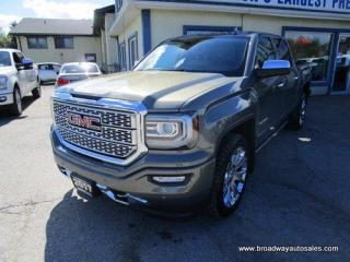 Used 2017 GMC Sierra 1500 LOADED DENALI EDITION 5 PASSENGER 6.2L - V8.. 4X4.. CREW.. SHORTY.. NAVIGATION.. LEATHER.. HEATED/AC SEATS.. POWER PEDALS.. POWER SUNROOF.. for sale in Bradford, ON