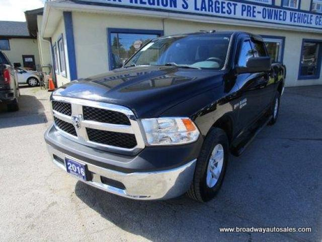 2016 Dodge Ram 1500 WELL EQUIPPED SXT EDITION 6 PASSENGER 5.7L - HEMI.. 4X4.. CREW-CAB.. SHORTY.. TOW SUPPORT.. AUX/USB INPUT.. KEYLESS ENTRY..