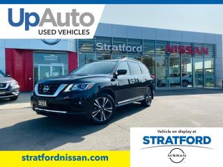 Used 2018 Nissan Pathfinder PLATINUM 4WD|Entertainment DVD Package! LOW KMS for sale in Stratford, ON