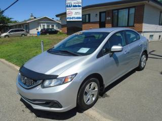 Used 2015 Honda Civic LX for sale in Ancienne Lorette, QC