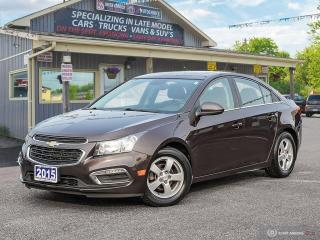 Used 2015 Chevrolet Cruze 2LT,REMOTE START,R/V CAM,LEATHER INT,PWR S/ROOF for sale in Orillia, ON