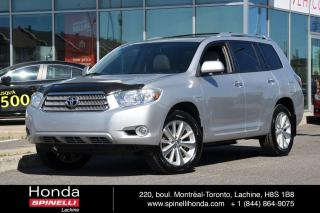Used 2010 Toyota Highlander HYBRID Limited GPS CUIR 7 PASSAGERS RARE AWD HYBRIDE CUIR TOIT NAVI 7 PASSAGERS for sale in Lachine, QC