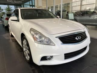 Used 2013 Infiniti G37 Sedan Sport AWD, ACCIDENT FREE, ONE OWNER, SUNROOF, POWER HEATED LEATHER SEATS, NAVI for sale in Edmonton, AB