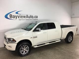 Used 2018 RAM 2500 LIMITED - MEGA CAB! CUMMINS DIESEL! RAMBOX! HTD/COOLED LTHR! SUNROOF! NAV! RARE FIND! ONLY 21,000KMS! for sale in Belleville, ON