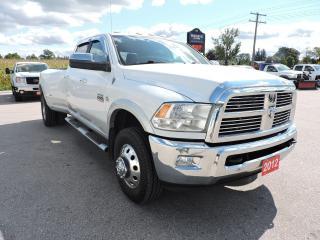 Used 2012 RAM 3500 Laramie Diesel 4X4 Navi 6 new tires for sale in Gorrie, ON