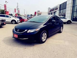 Used 2014 Honda Civic 4dr LX|CVT|A/C|Hted Seats|Keyless|Bluetooth| for sale in North York, ON