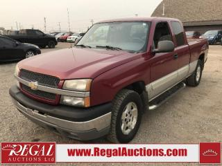 Used 2005 Chevrolet Silverado 1500 LS EXT CAB 4WD for sale in Calgary, AB