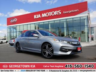 Used 2017 Honda Accord Sedan SPORT | LTHR | ROOF | B/U CAM | HTD STS | 99,343KM for sale in Georgetown, ON