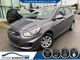 Used 2014 Hyundai Accent GL BLUETOOTH, BANCS CHAUFFANTS,A/C,CRUIS for sale in Blainville, QC
