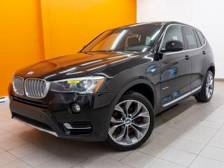 Used 2017 BMW X3 XDRIVE28I AWD SIÈGES CHAUFF CAMÉRA CUIR *BAS KM* for sale in St-Jérôme, QC