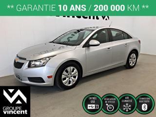 Used 2013 Chevrolet Cruze LT Turbo ** GARANTIE 10 ANS ** Parfait pour petit budget! for sale in Shawinigan, QC
