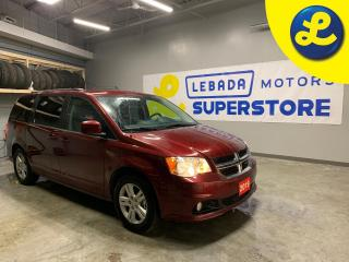 Used 2019 Dodge Grand Caravan Crew Plus * Garmin navigation *  Leatherfaced seats with perforated inserts * Secondrow overhead DVD 9inch VGA video screen * Secondrow power wind for sale in Cambridge, ON