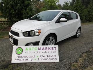 Used 2016 Chevrolet Sonic LT3, TURBO, AUTO, SUNROOF, CAMERA, INSPECTED, WARRANTY, FINANCING! for sale in Surrey, BC