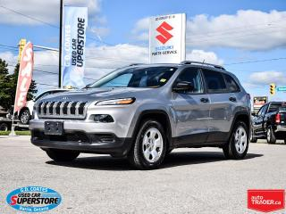 Used 2016 Jeep Cherokee Sport 4x4 ~3.2 V6 ~Trailer Tow ~Heated Seats/Wheel for sale in Barrie, ON