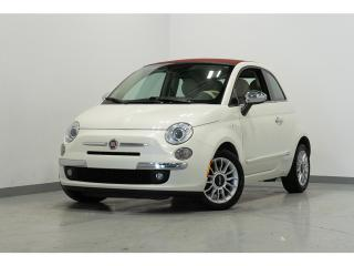 Used 2014 Fiat 500 C 2dr Conv Lounge AUTO AC CUIR ROUGE for sale in Brossard, QC