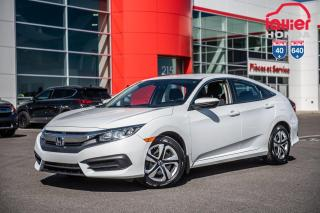 Used 2018 Honda Civic GARANTIE LALLIER MOTO-PROPULSEUR 10ANS/200,000 KIL P5166   BLANC for sale in Terrebonne, QC