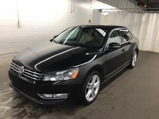 Used 2013 Volkswagen Passat TDI Highline NAVI CAMERA CUIR/SUEDE TOIT 99,900KM for sale in St-Eustache, QC