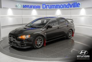 Used 2009 Mitsubishi Lancer EVOLUTION MR + AWC + RECARO + RARE + WOW for sale in Drummondville, QC