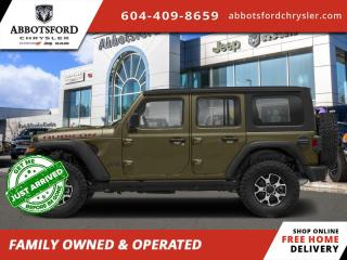 New 2021 Jeep Wrangler Rubicon Unlimited  - Leather Seats - $407 B/W for sale in Abbotsford, BC