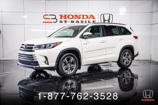 Used 2017 Toyota Highlander HYBRID LIMITED + AWD + CUIR + NAVI + WOW! for sale in St-Basile-le-Grand, QC