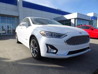 Used 2019 Ford Fusion Hybrid TITANIUM/HYBRID/LEATHER/SUNROOF/NAV/BACKUPCAM for sale in Edmonton, AB