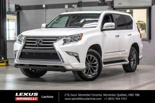 Used 2018 Lexus GX EXECUTIF 4WD; 7 PASS GPS CAMERA 360 AUDIO / DVD 7 PASSAGERS - NAVIGATION - CAMERA 360 - MONITEUR ANGLES MORT - AUDIO MARK LEVINSON - DVD 2ÈME RANGÉE for sale in Lachine, QC