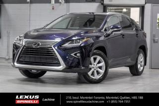 Used 2017 Lexus RX 350 PREMIUM AWD; CUIR TOIT CAMERA ANGLES MORT LSS+ BAS KILOMÉTRAGE - MOONROOF - MONITEUR ANGLES MORT - SIÈGES 2ÈME RANGÉE CHAUFFANT - VOLANT CHAUFFANT for sale in Lachine, QC