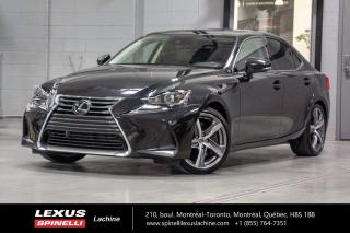 Used 2018 Lexus IS 350 EXECUTIVE AWD; CUIR TOIT GPS ANGLE MORT AUDIO LSS+ BAS KILOMÉTRAGE - NAVIGATION - MONITEUR ANGLES MORT - AUDIO MARK LEVINSON -  VOLANT CHAUFFANT for sale in Lachine, QC