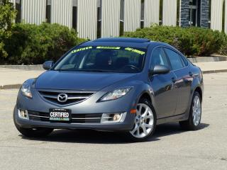 Used 2010 Mazda MAZDA6 LEATHER,GT,BLUETOOTH,FULLY LOADED,CERTIFIED,1-OWNR for sale in Mississauga, ON